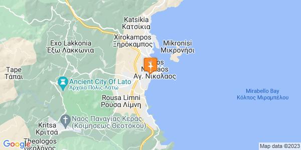 Google Map of Ικάρων, Αγ. Νικόλαος 721 00, Ελλάδα