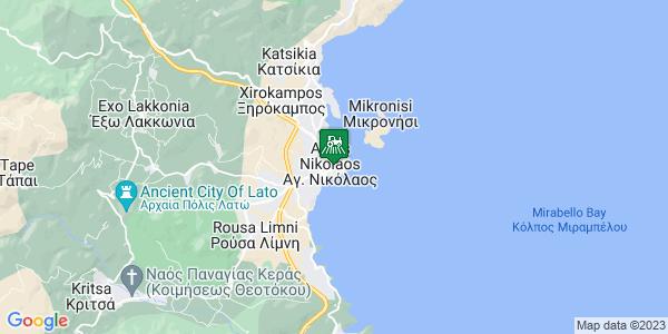 Google Map of Ρούσσου Κούνδουρου 2, Αγ. Νικόλαος 721 00, Ελλάδα