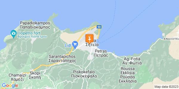 Google Map of Θερίσου 61, Σητεία 723 00, Ελλάδα