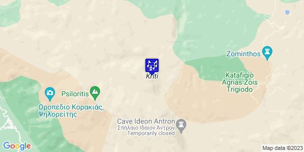 Google Map of Crete Region, Greece