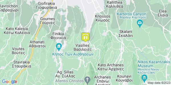 Google Map of Νικηφόρου Φωκά 69, Βασιλειές 715 00, Ελλάδα