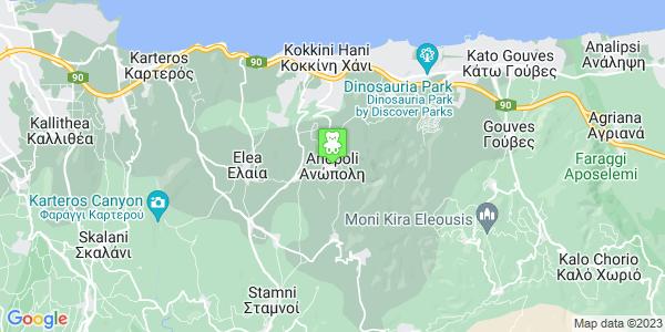 Google Map of Ανώπολη 700 08, Ελλάδα