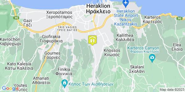 Google Map of Ούλωφ Πάλμε 172, Ηράκλειο 714 09, Ελλάδα