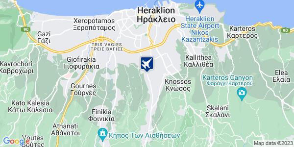 Google Map of Ούλωφ Πάλμε 151, Ηράκλειο 714 09, Ελλάδα