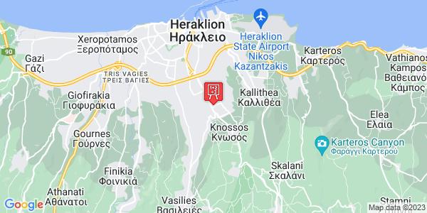 Google Map of Andrea Nathena 16, Iraklio 714 09, Greece