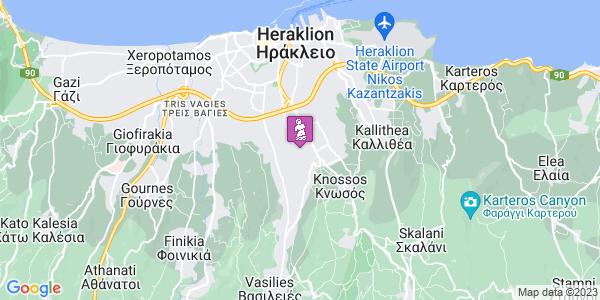 Google Map of Leof. Papanastasiou 215, Iraklio 714 09, Greece