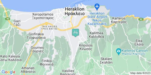 Google Map of Λεωφ. Παπαναστασίου 205, Ηράκλειο 714 09, Ελλάδα