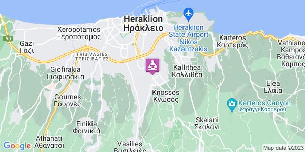 Google Map of Λεωφ. Κνωσού 257, Ηράκλειο 714 09, Ελλάδα
