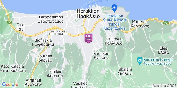 Google Map of Leof. Papanastasiou 199, Iraklio 714 09, Greece