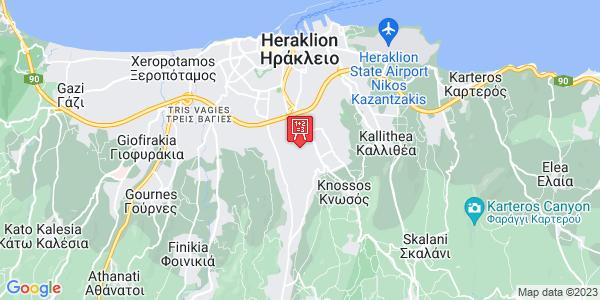 Google Map of Leof. Papanastasiou 189, Iraklio 714 09, Greece