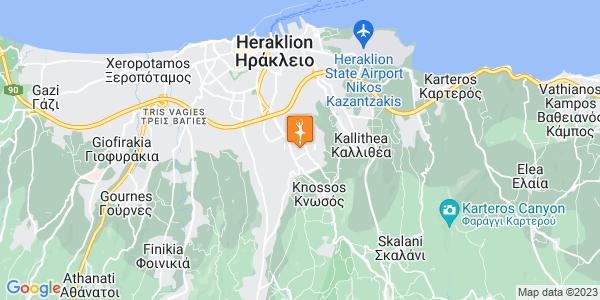 Google Map of Αρχιεπισκόπου Ευγένιου 47, Heraklion, Crete Region, Greece