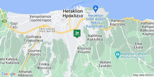 Google Map of Leof. Knosou 225, Iraklio 714 09, Greece