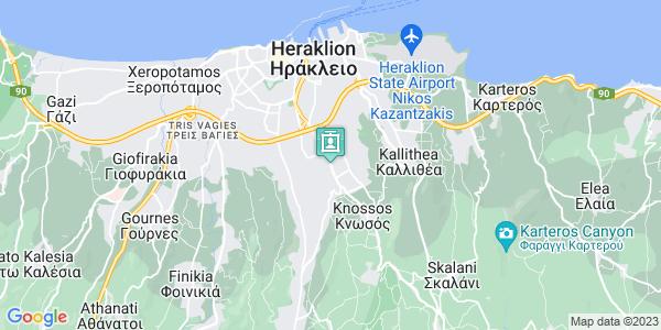 Google Map of Λεωφ. Κνωσού 256, Ηράκλειο 714 09, Ελλάδα