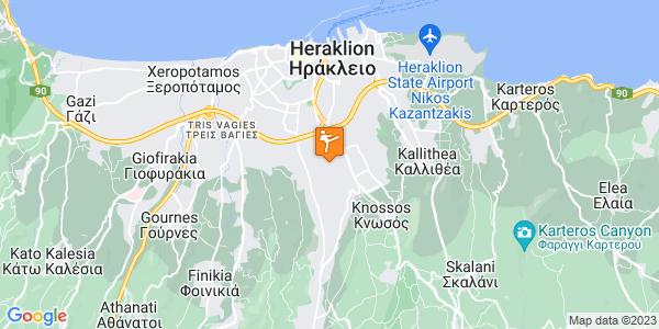 Google Map of Λεωφ. Παπαναστασίου 171, Ηράκλειο 714 09, Ελλάδα