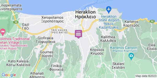 Google Map of Oulof Palme 90, Iraklio 714 10, Greece