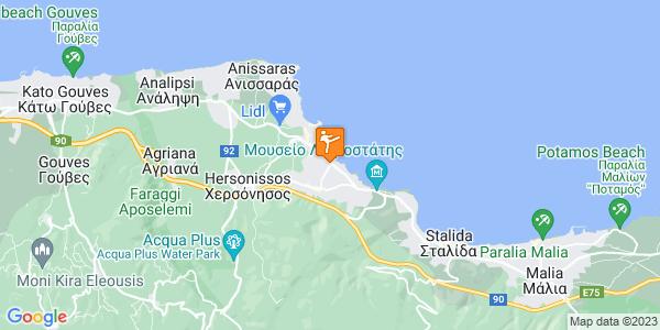 Google Map of Agiou Vasiliou, Limenas Chersonisou 700 14, Greece