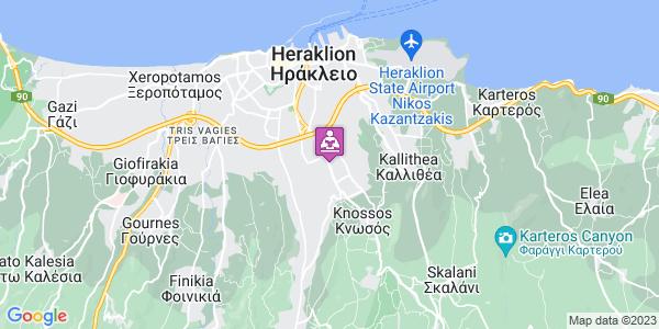 Google Map of Λεωφ. Κνωσού 219, Ηράκλειο 714 09, Ελλάδα