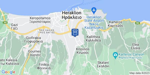 Google Map of Λεωφ. Κνωσού 222, Ηράκλειο 714 09, Ελλάδα