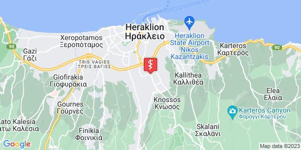 Google Map of Vasileioi Patrikioi 1, Iraklio 714 09, Greece