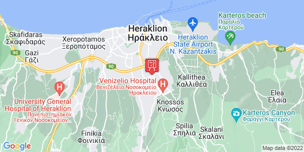 Google Map of Ι. Κακριδή 3, Ηράκλειο 714 09, Ελλάδα