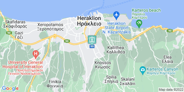 Google Map of Λεωφ. Κνωσού 185, Ηράκλειο 714 09, Ελλάδα