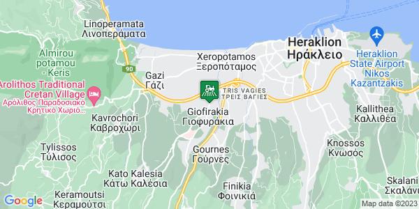 Google Map of Λεωφορος Πανεπιστημίου 69, Άγιοι Θεόδωροι 715 00, Ελλάδα