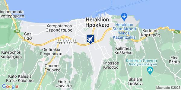 Google Map of Εθνομαρτύρων 22, Ηράκλειο 714 09, Ελλάδα