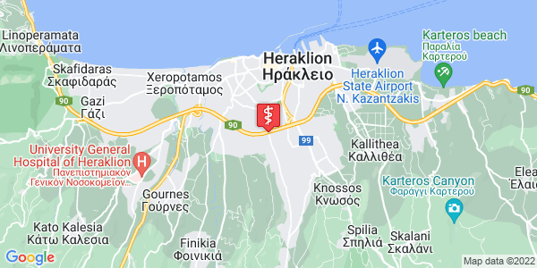 Google Map of Oulof Palme 22, Iraklio 714 09, Greece