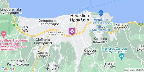 Google Map of Ούλωφ Πάλμε 17, Ηράκλειο 714 09, Ελλάδα