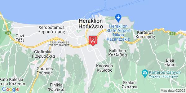 Google Map of Νικολάου Σταυρινίδη 14, Heraklion, Crete Region, Greece