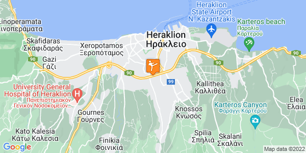 Google Map of Εθνομαρτύρων 4, Heraklion, 714 09, Greece