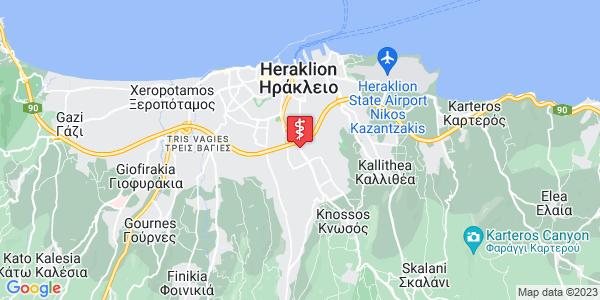 Google Map of Λεωφ. Κνωσού 174, Ηράκλειο 714 09, Ελλάδα