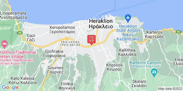 Google Map of Λιμπριτήδων 3, Heraklion, Crete Region, Greece