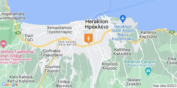 Google Map of Καλλιπόλεως 125, Ηράκλειο 713 06, Ελλάδα