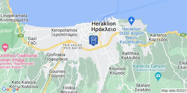 Google Map of Leof. Ionias 220, Iraklio 713 05, Greece