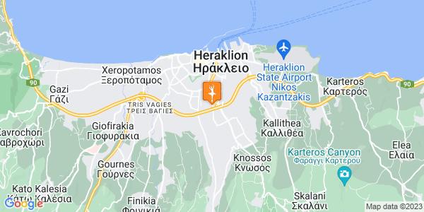 Google Map of Παπαναστασίου, Ηράκλειο, Ελλάδα