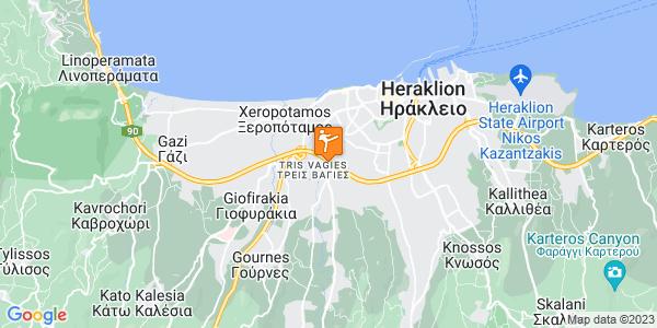Google Map of Απελλού 6, Ηράκλειο 714 10, Ελλάδα