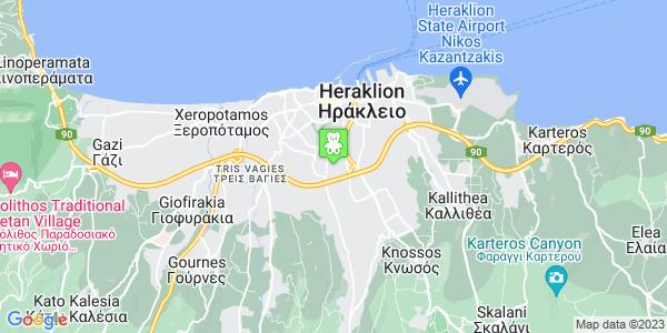 Google Map of Meg. Alexandrou ke Sklavokampou, Iraklio 713 06, Greece