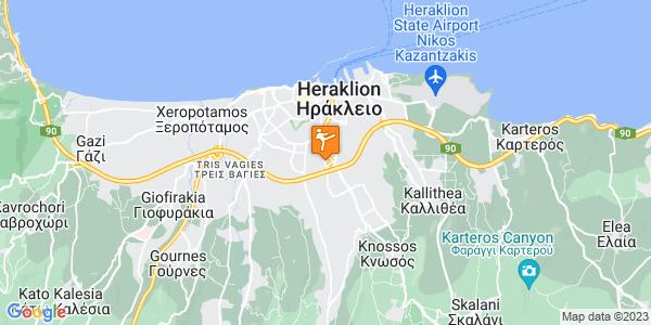 Google Map of Λεωφ. Παπαναστασίου 65, Ηράκλειο 713 06, Ελλάδα