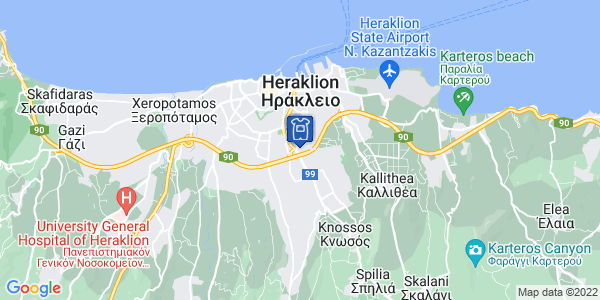 Google Map of Παρ. 1η Μίνωος Καλοκαιρινού 13, Ηράκλειο 713 07, Ελλάδα