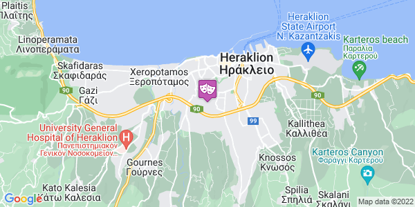 Google Map of Διδώ Σωτηρίου 19, Ηράκλειο 713 05, Ελλάδα