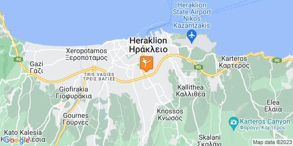 Google Map of Pitsoulaki 37, Iraklio 713 07, Greece