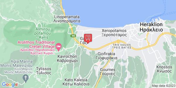 Google Map of Καμαριώτη 34, Gazi, Crete Region, Greece