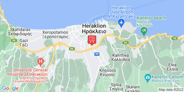 Google Map of Leof. Knosou 93, Iraklio 713 07, Greece