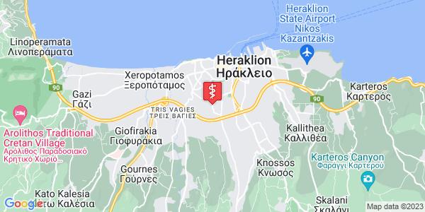 Google Map of Ιερολοχιτών 82, Ηράκλειο 713 05, Ελλάδα