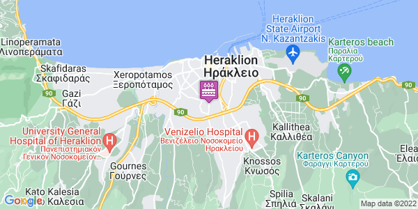 Google Map of Λεωφ. Ιωνίας 163, Ηράκλειο 713 06, Ελλάδα