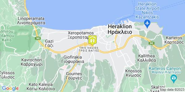 Google Map of Lisistratis 17, Iraklio 713 04, Greece