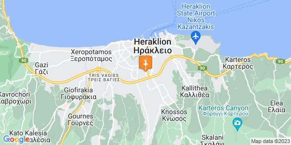 Google Map of Leof. Papanastasiou 36, Iraklio 713 06, Greece