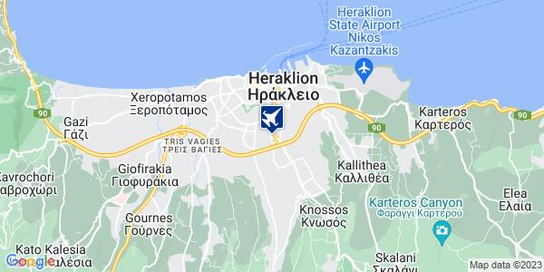 Google Map of Παπαναστασίου 45, Ηράκλειο 713 06, Ελλάδα