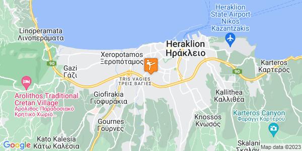 Google Map of Θεόδωρου Ματθαιάκη 31, Heraklion, 713 05, Greece